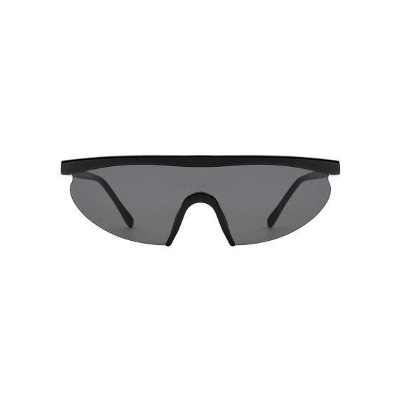 A.Kjaerbede zonnebril model MOVE kleur zwart met grijze glazen AKsunnies bril sunglasses Akjaerbede eyewear